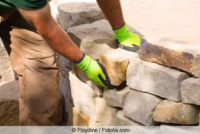 Trockenmauer errichten