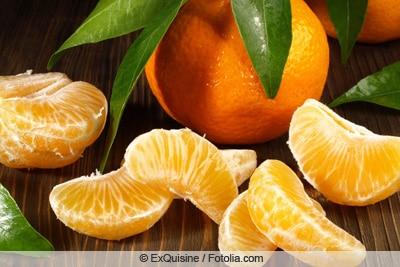 Geschälte Mandarine
