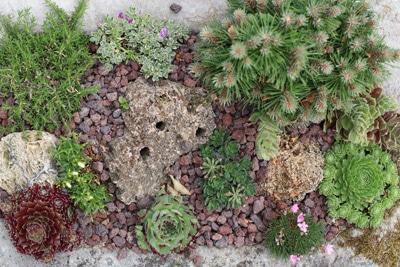 Steingarten aus Vogelperspektive