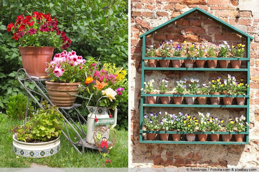Blumentreppe & Blumenregal