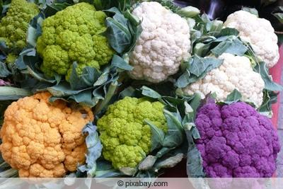 Blumenkohl - verschiedene Farben