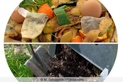 Schnellkomposter mit Küchenabfällen befüllen