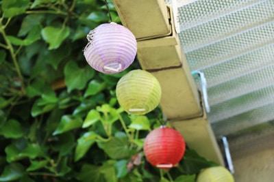 Lampions als Gartenbeleuchtung