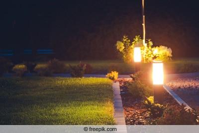 LED-Leuchten im Garten
