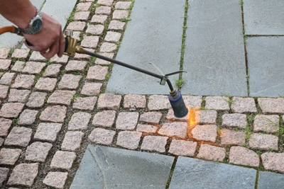 Abflammgerät zur Unkrautbekämpfung