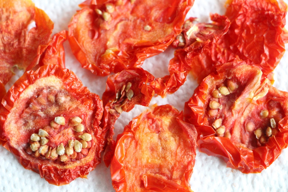 Tomate trocknen