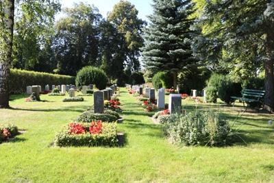 Grabbepflanzung - Friedhof