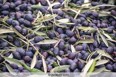 ueberreife matschige oliven