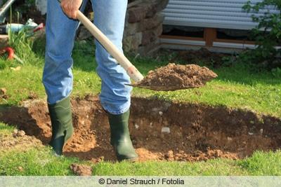 schaufel zum ausgraben