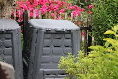 Verschlossener Komposter