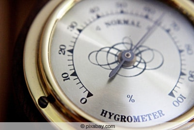 Hygrometer zur Bestimmung der Luftfeuchtigkeit