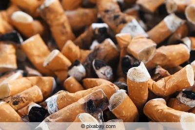 Zigarettenstummel - Nikotin