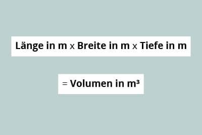 Berechnungsformel Volumen