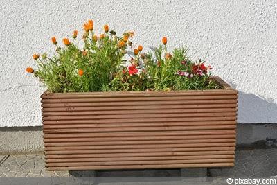 Blumentopf Holz