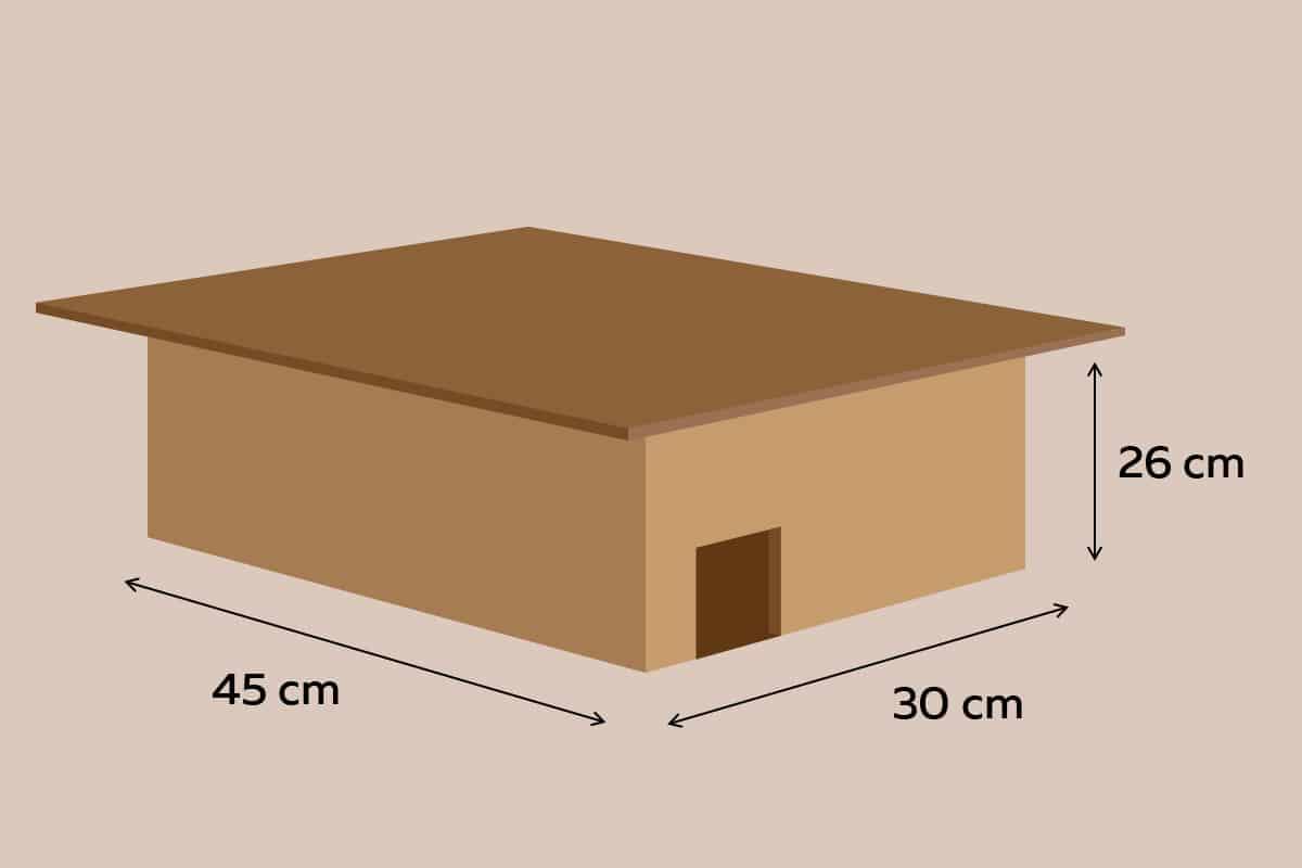 Maße des Igelhauses