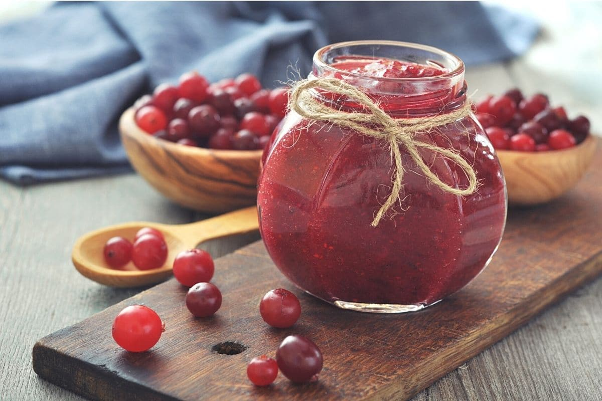 Cranberries als Marmelade