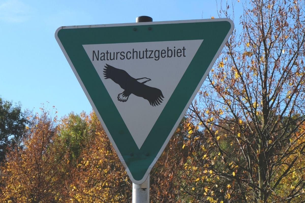 Hinweisschild Naturschutzgebiet