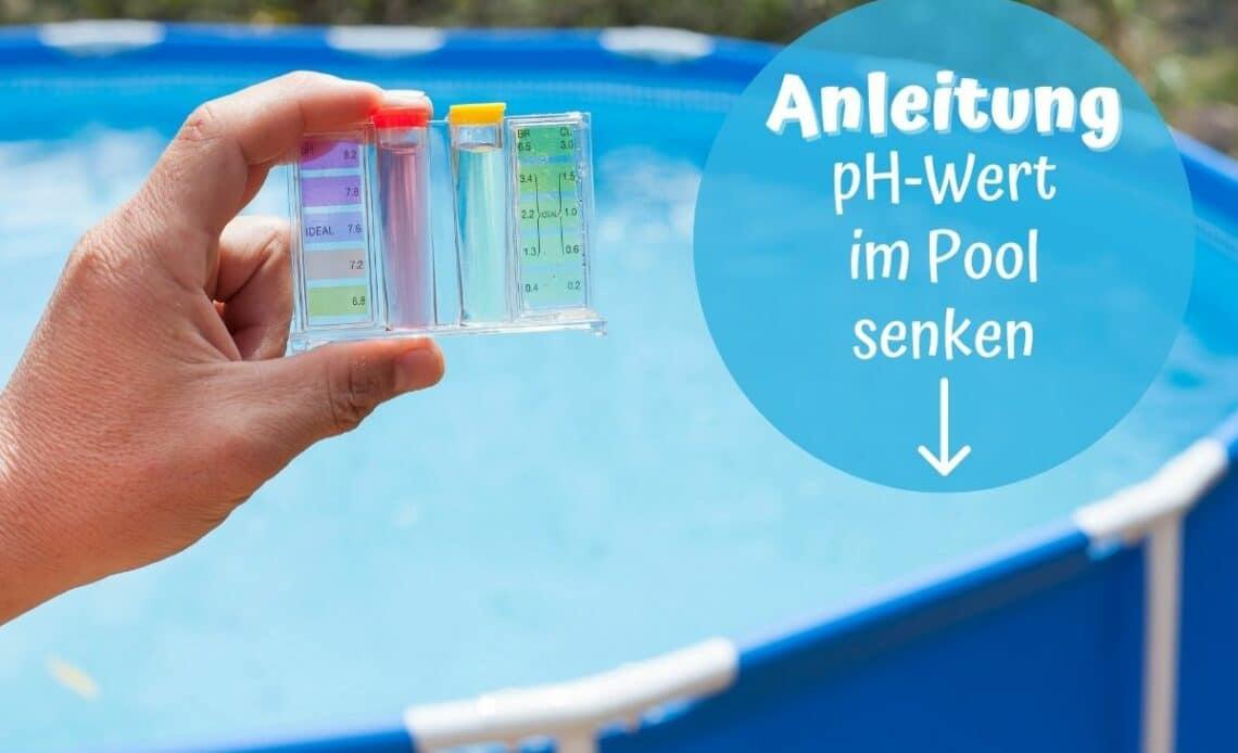pH-Wert im Pool senken