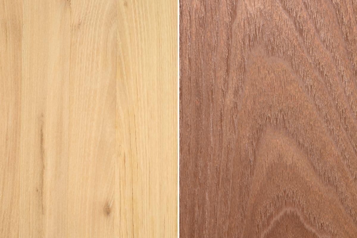 Textur des Akazienholzes