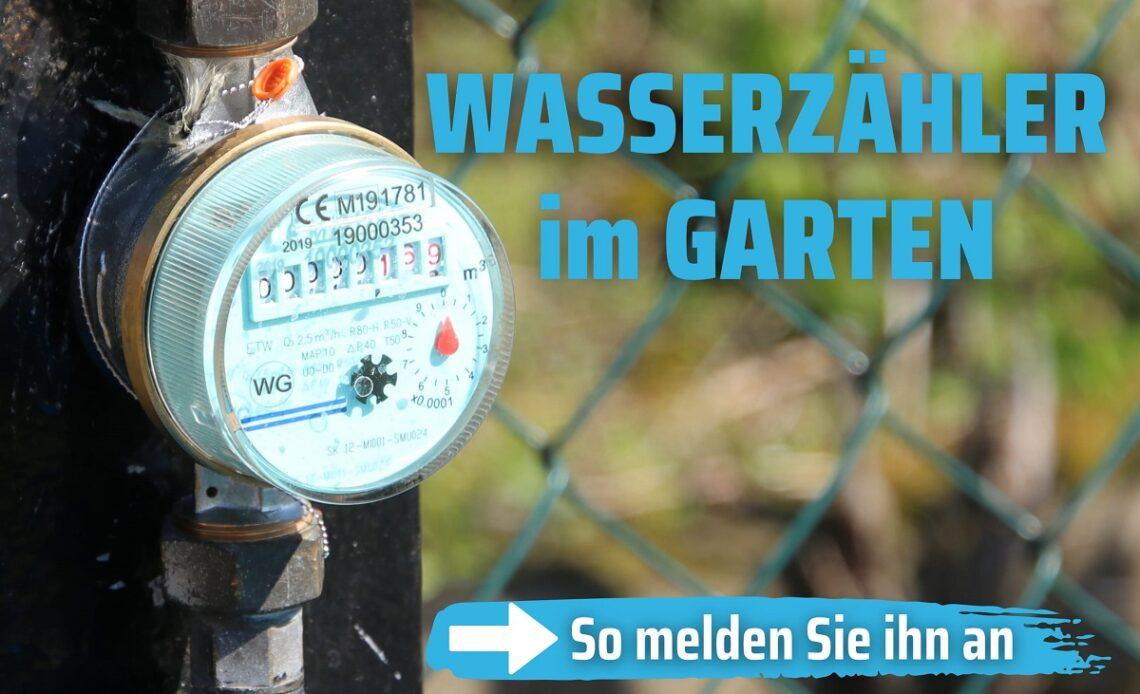 Gartenwasserzähler anmelden