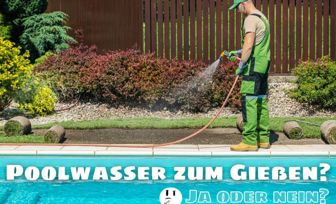 Mit Poolwasser gießen